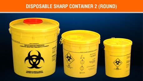 disposable sharp container round 2