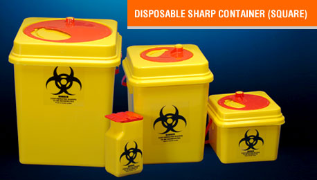 disposable sharp container square